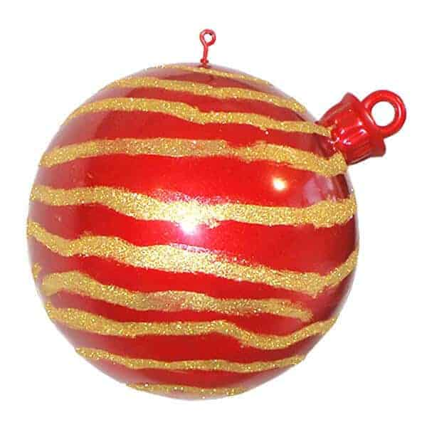 Red & Gold swirl large scale bauble