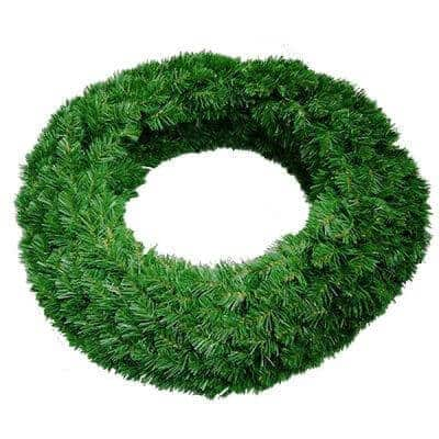 Undecorated green double sided wreath