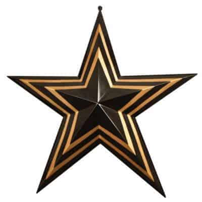 black and gold fiberglass star