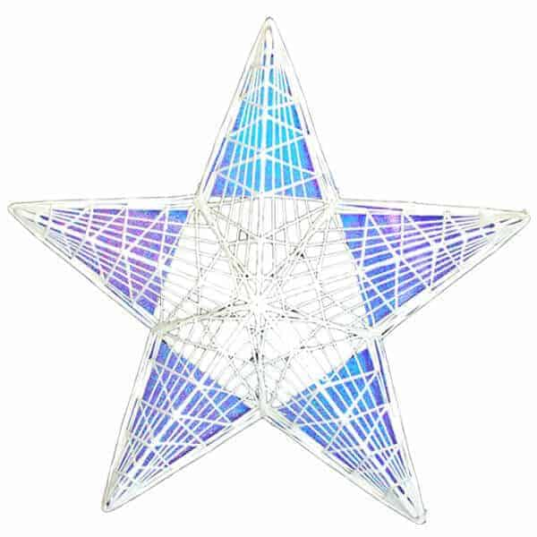 Masson Star filled with blue hologrpahic film