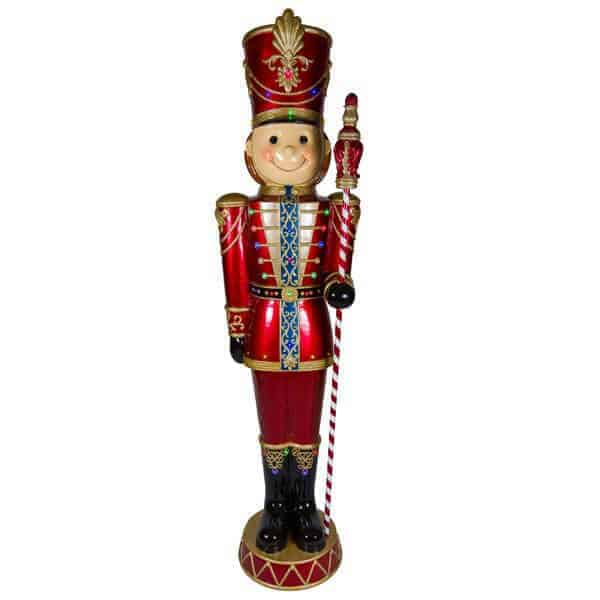 Boy soldier with cane nutcracker prop