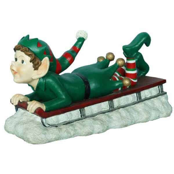 Elf on sleigh prop