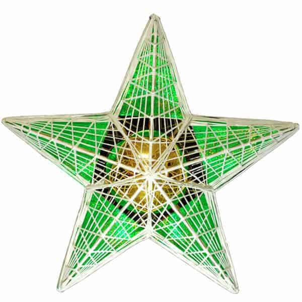 Masson Star filled with green hologrpahic film