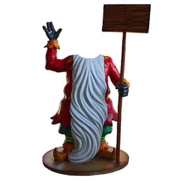 Santa with long beard prop