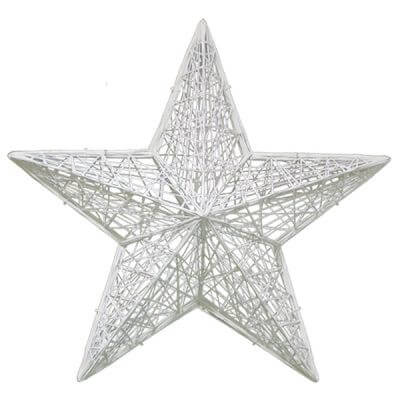 Masson fiberglass white christmas star