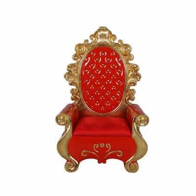 Red and gold Santa throne