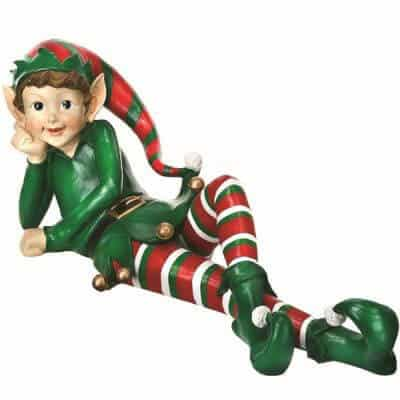 Reclining elf prop