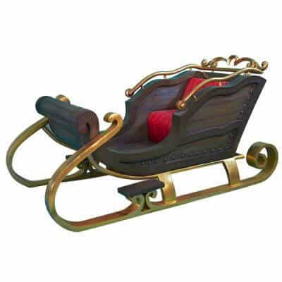 Wooden scandi themed Santa sleigh