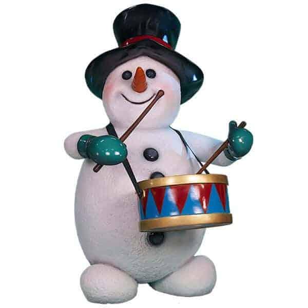 Drumming snowman prop