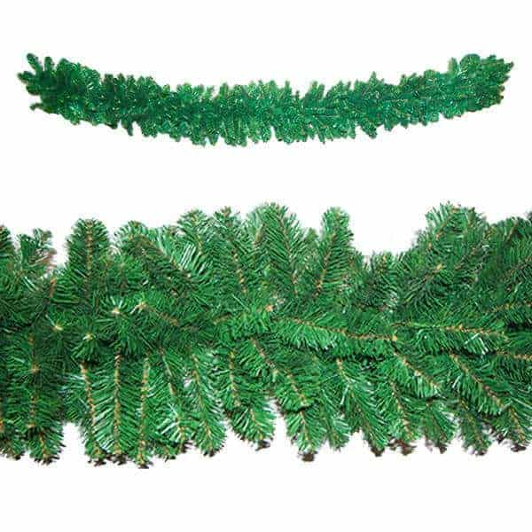 Undecorated garland