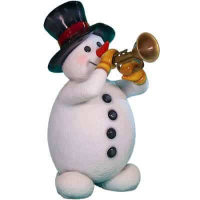 Trumpet playing Snowman prop