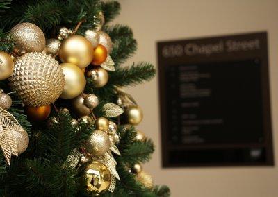 Close Up Christmas Decorations