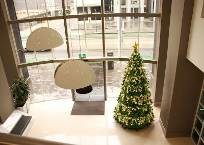 Como Corporate Traditional Christmas Tree Birdseye View