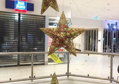 Eastlands Shopping Centre Large Masson Christmas Stars