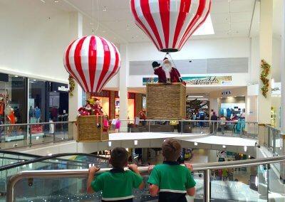 Eastlands Shopping Centre Santa Animated Santa & Elves in Hot Air Balloons