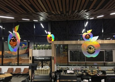 Lauceston City Airport Holographic Apple Christmas Baubles