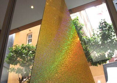 Pyramid Contemporary Christmas Tree Close-Up
