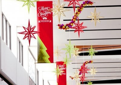 Sanctuary Lakes ChristmasBanners & 3D Slotted Stars