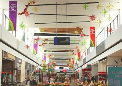 Sanctuary Lakes Shopping Centre Slotted 3D Glittery Stars