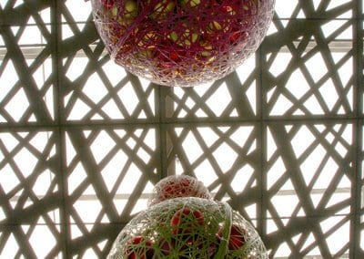 Summerhill Shopping Centre Hanging Masson Balls Close-Up