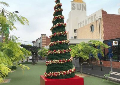 Maribyrnong Council Christmas Cone Tree