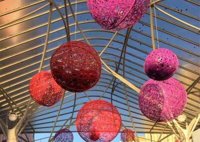 Launceston City Council Hanging Christmas Masson Balls