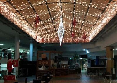 Hanging Bethlehem Stars and LED Netting