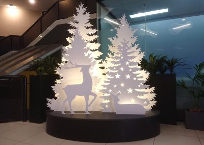 LED Trees & Reindeer Silhouette
