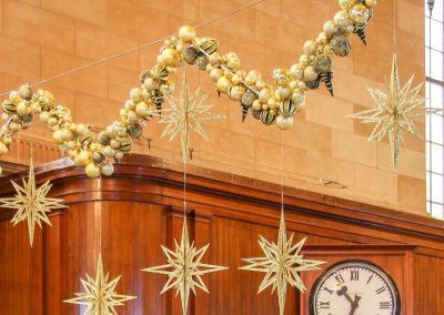 Gold Bauble Garlands and Stars